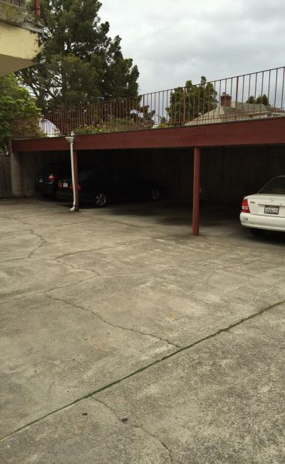 Carport parking on Oxford Street in Berkeley