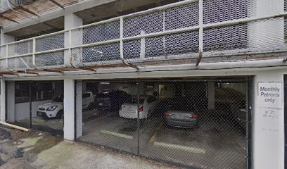 Garage parking on Peachtree Street Northeast in Atlanta
