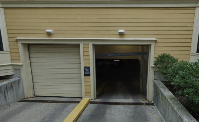 Garage parking on Pleasant Street in Cambridge
