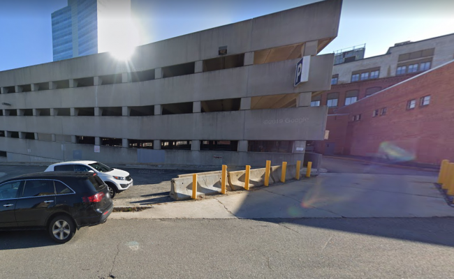 Garage parking on Pleasant Street in Worcester