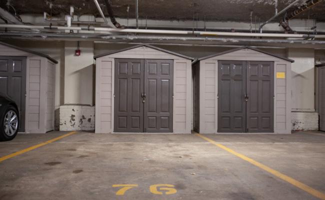 Indoor lot parking on Porter St in Boston
