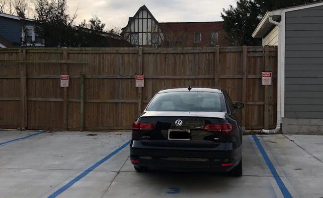 parking on Porter Street Northwest in Washington