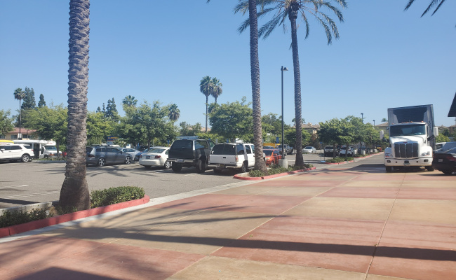 Outside parking on S Harbor Blvd in Anaheim