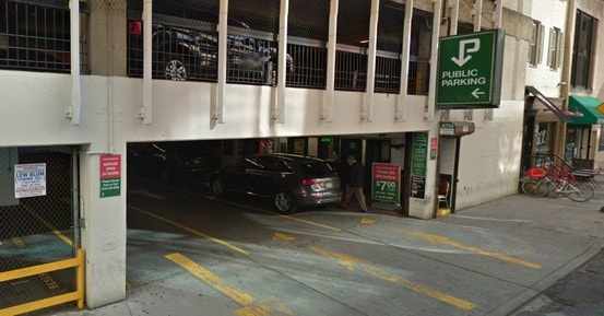 parking on Sansom Street in Philadelphia