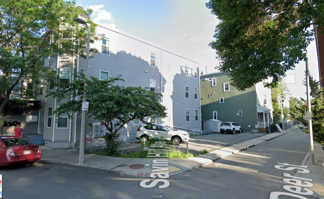 Outdoor lot parking on Savin Hill Avenue in Dorchester