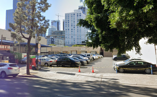 parking on South Hill Street in Los Angeles
