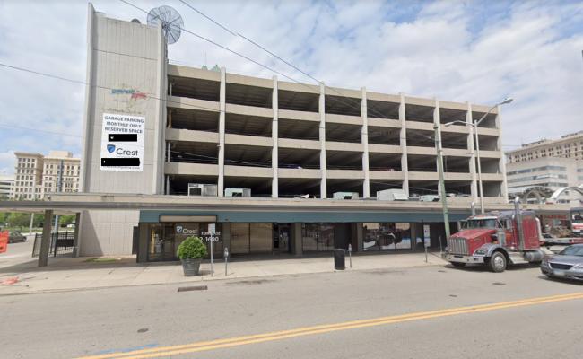 Garage parking on South Jefferson Street in Dayton