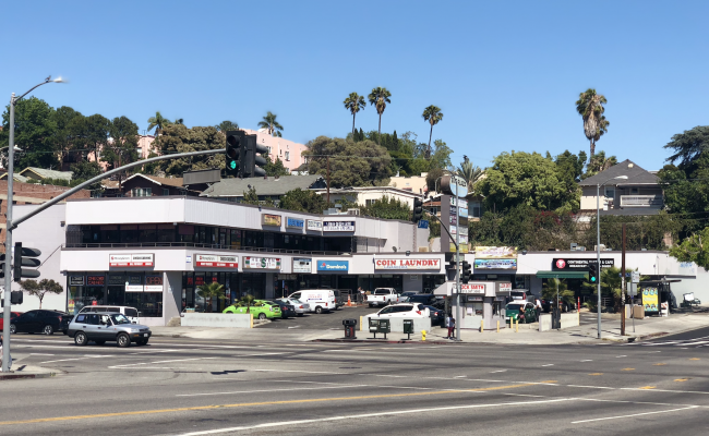 Outdoor lot parking on South Rampart Boulevard in Los Angeles