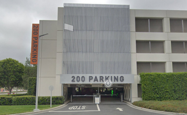 Garage parking on Spectrum Center Drive in Irvine