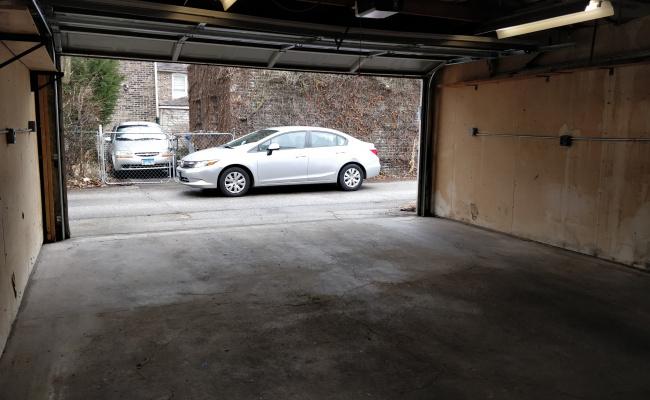 Garage parking on West 31st Street in Chicago