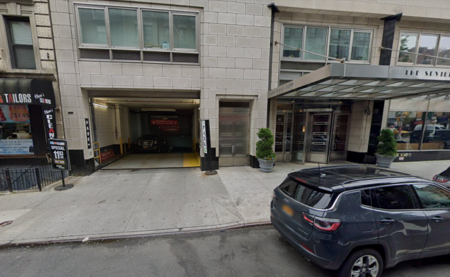 Indoor lot parking on E 77th St in New York