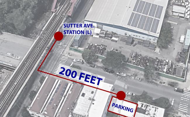 Outdoor lot parking on Sutter Avenue in Brooklyn