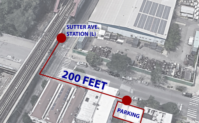 Outdoor lot parking on Sutter Avenue in Brooklyn