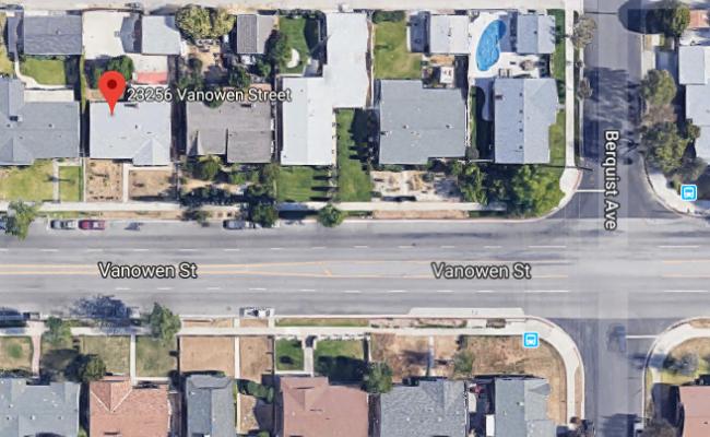 Covered parking on Vanowen Street in West Hills