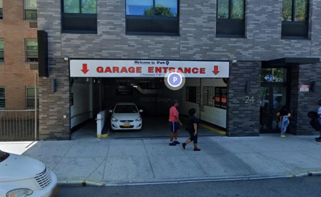 Garage parking on West 117th Street in New York City
