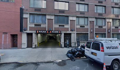 Garage parking on West 43rd Street in New York City