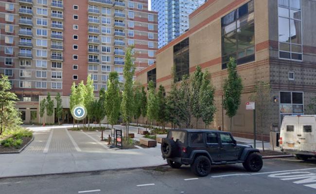 Garage parking on West 43rd Street in New York City