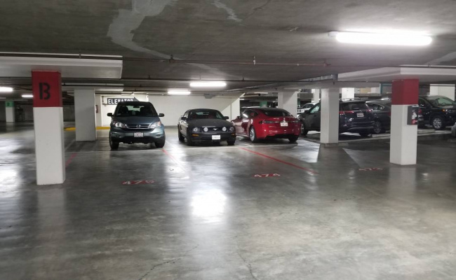 Indoor lot parking on West El Camino Real in Mountain View