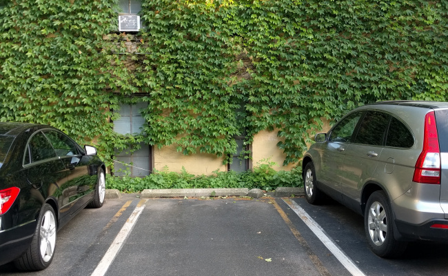 Outdoor lot parking on West Eugenie Street in Chicago