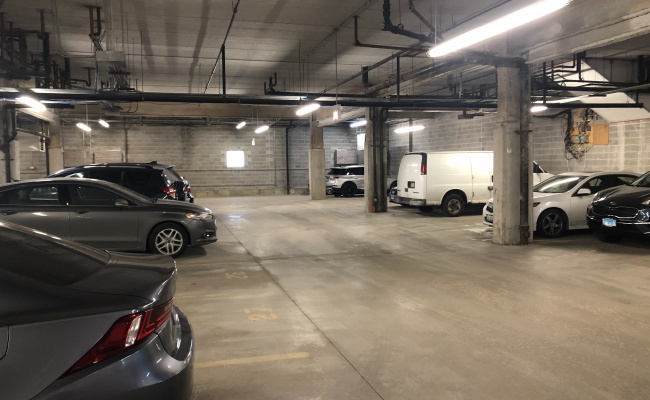 Garage parking on West Fulton Street in Chicago