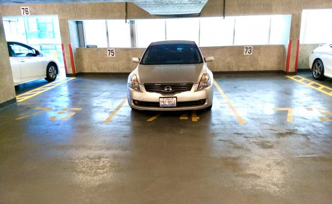 Garage parking on West Superior Street in Chicago