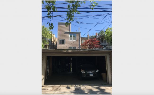 Garage parking on West Webster Avenue in Chicago