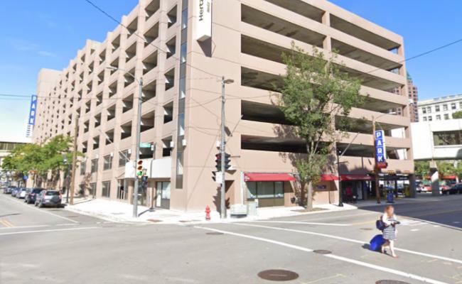 Garage parking on West Wells Street in Milwaukee
