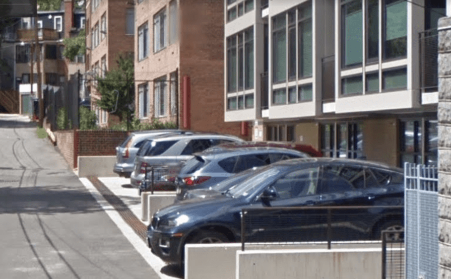 Outdoor lot parking on Garfield St NW in Washington