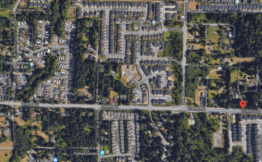 parking on 228th St SE in Woodinville