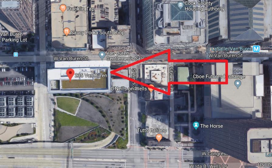 parking on W Van Buren St in Chicago