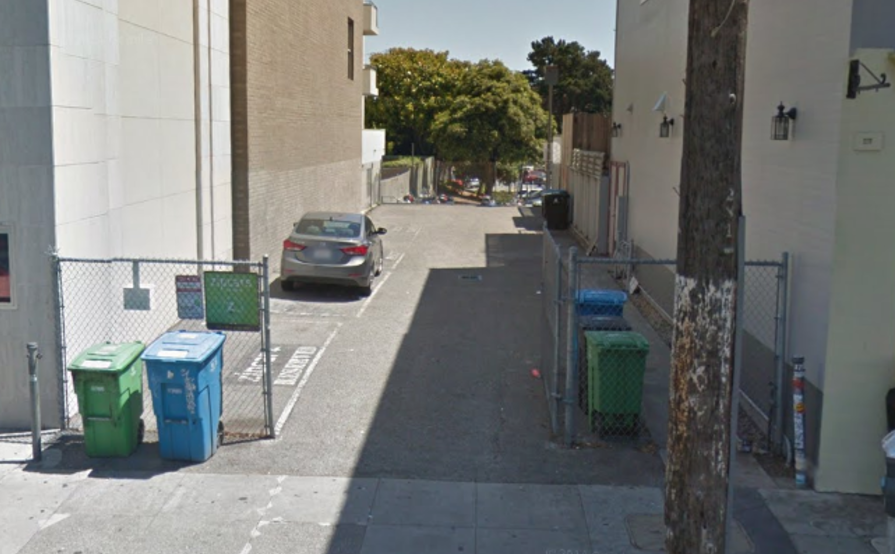 parking on Bosworth St in San Francisco