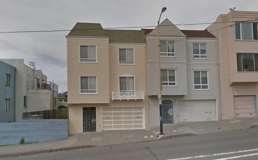 Garage parking on Judah St in San Francisco