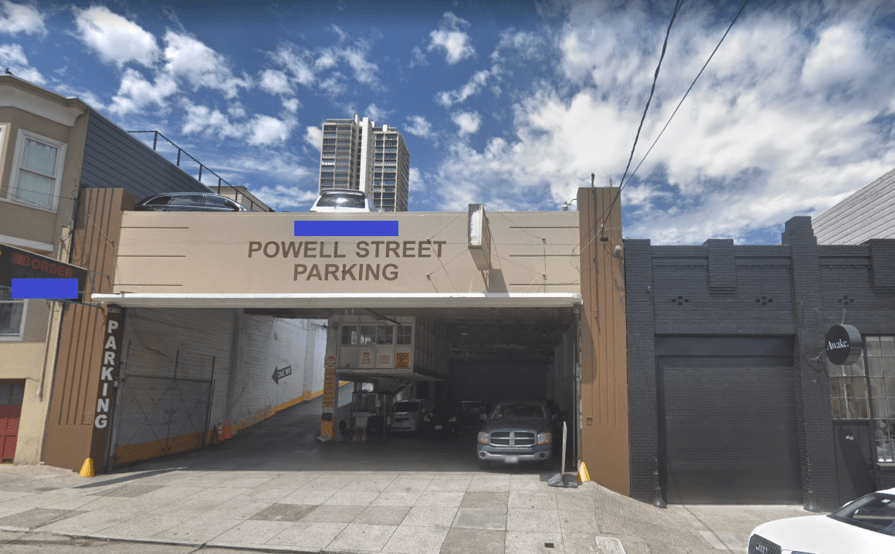 parking on Powell St in San Francisco