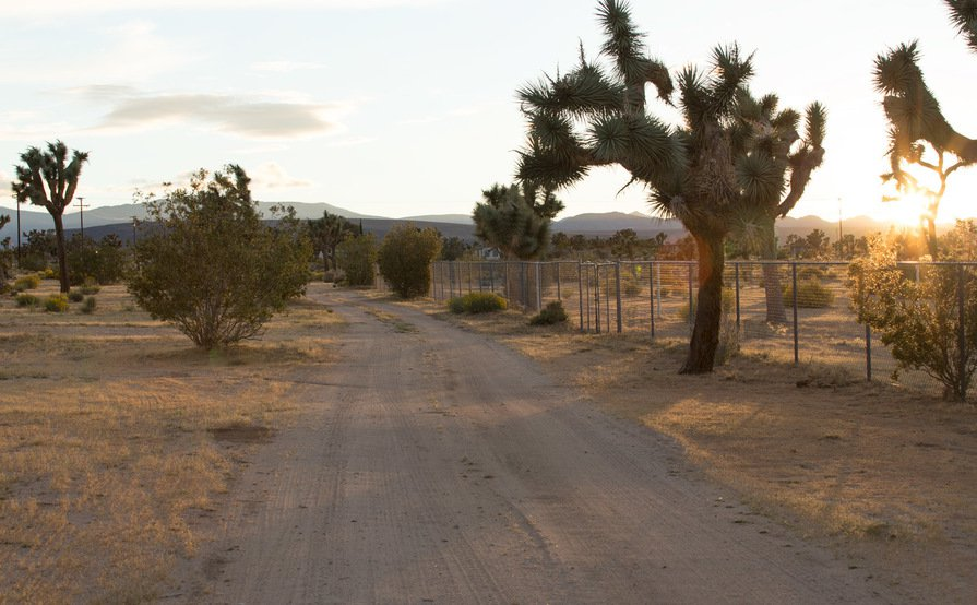 parking on Sunny Sands Dr in Yucca Valley
