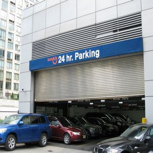 Indoor lot parking on West End Avenue in New York