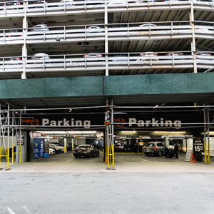 Indoor lot parking on 14-26 South William St in New York
