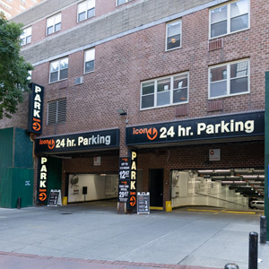 Indoor lot parking on Greenwich Street in New York