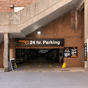 Indoor lot parking on Greenwich St in New York