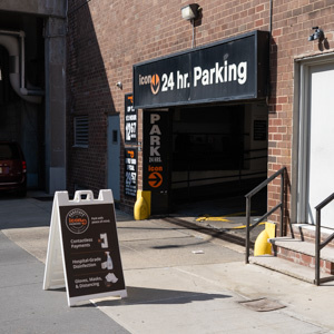 Indoor lot parking on Harrison St in New York
