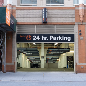 Indoor lot parking on West 50th St in New York