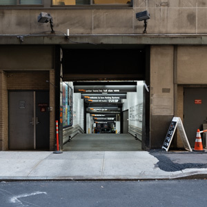 Indoor lot parking on Wall Street in New York