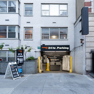 Indoor lot parking on East 53rd St in New York