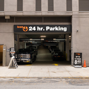 Indoor lot parking on West 28th Street in New York