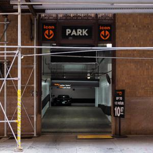 Indoor lot parking on Bridge Street in Brooklyn