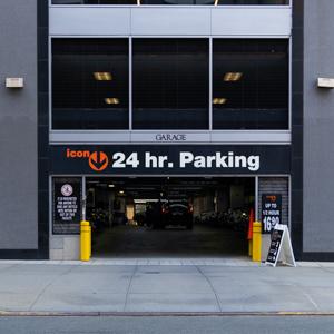 Indoor lot parking on Hudson St in New York