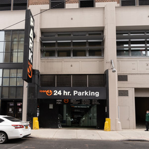 Indoor lot parking on 8th Avenue in New York