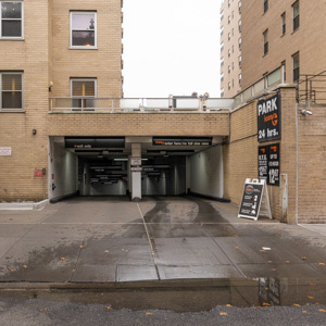Indoor lot parking on East 9th Street in New York