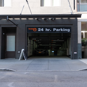 Indoor lot parking on Washington St in New York