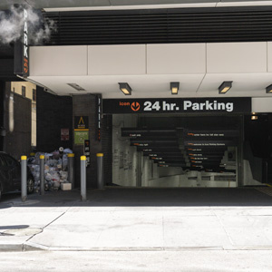 Indoor lot parking on William St in New York