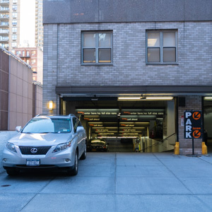 Indoor lot parking on East 40th St in New York